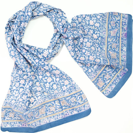 Hand Block Printed Scarf - Cheetah