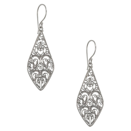 Balinese Filigree Silver Earrings