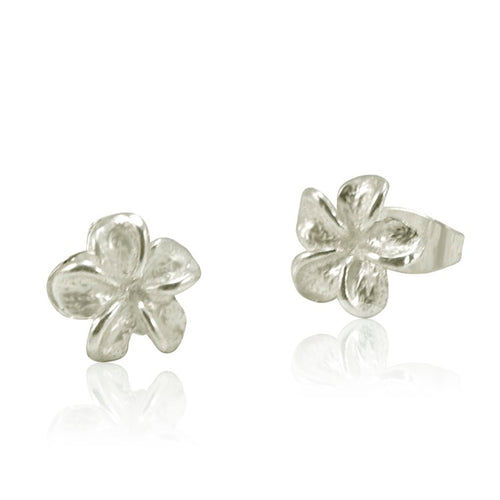 Frangipani Sterling Silver Post Earrings