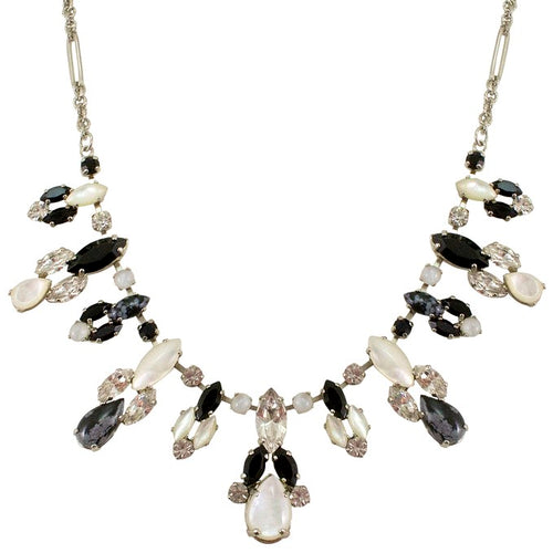 Moonstone and Onyx Statement Necklace by AMARO