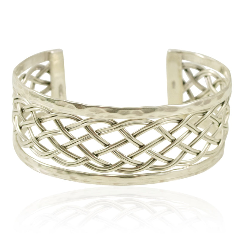 Braided Silver Cuff from Taxco, Mexico