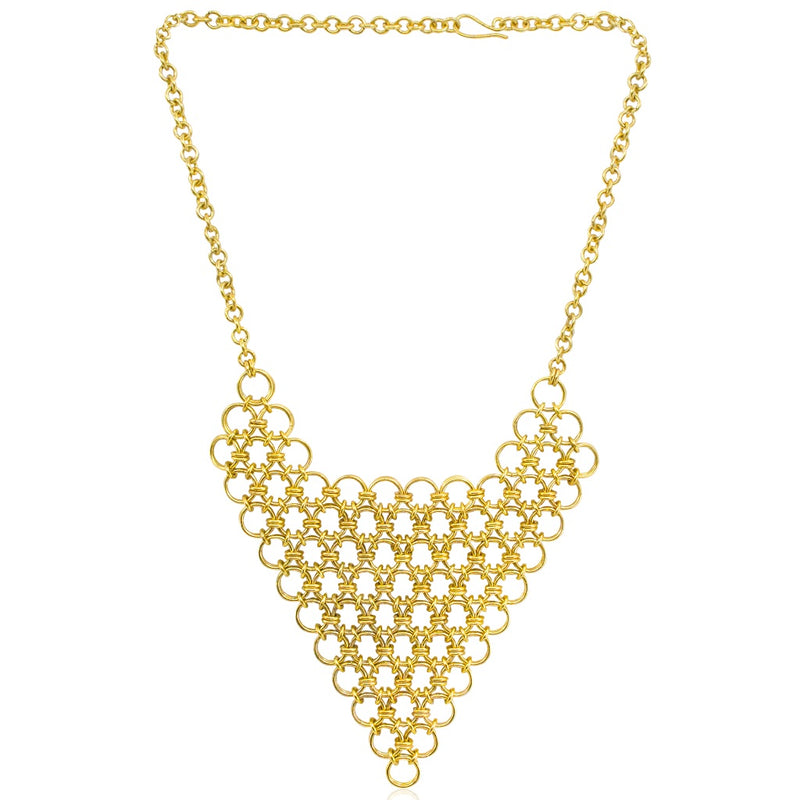 Chainlink Bib Statement Necklace