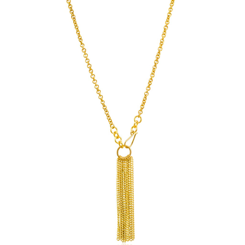 Brass Tassel Chain Necklace