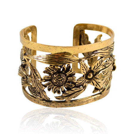 Golden Hearts Sterling Silver Filigree Adjustable Ring