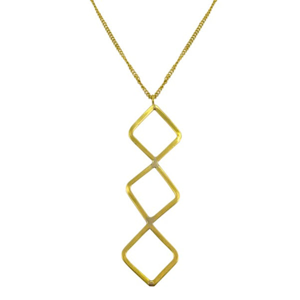 Triple Diamond Necklace - Long