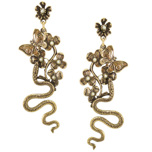 Serpents and Butterflies Earrings