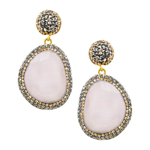 Cat's Eye Soft Pink Earrings