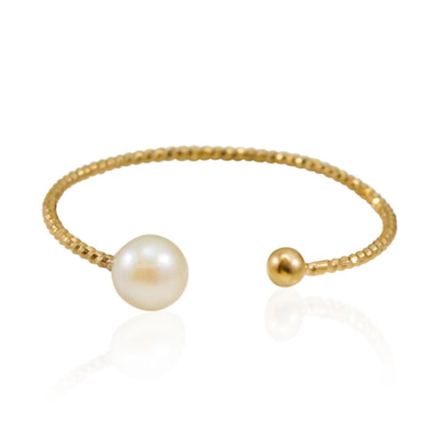 Elegant Open Pearl Ring by Cécile Boccara **GLOW STRONG ITEM**