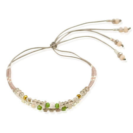Bead and Crystal Cord Bracelet by CLO&LOU