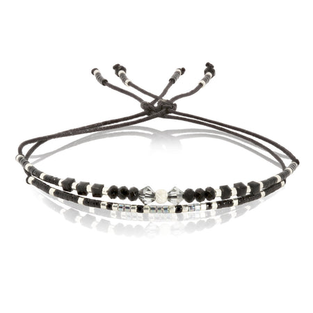 Elegant Pearl and Swarovski Crystal Bracelet by Satellite Paris
