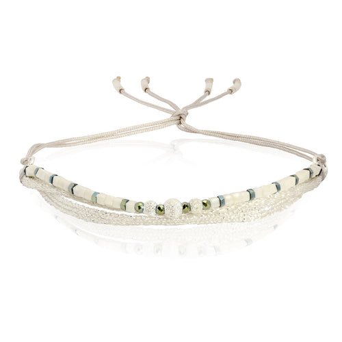 White Sungai Bracelet by CLO&LOU