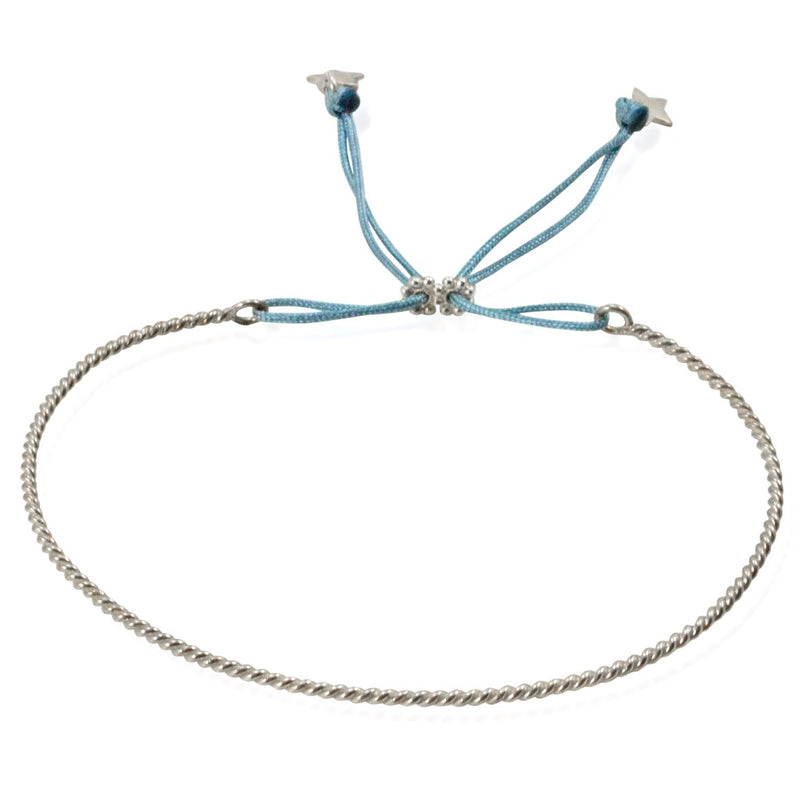 Star Sterling Silver Adjustable Bangle by CLO&LOU