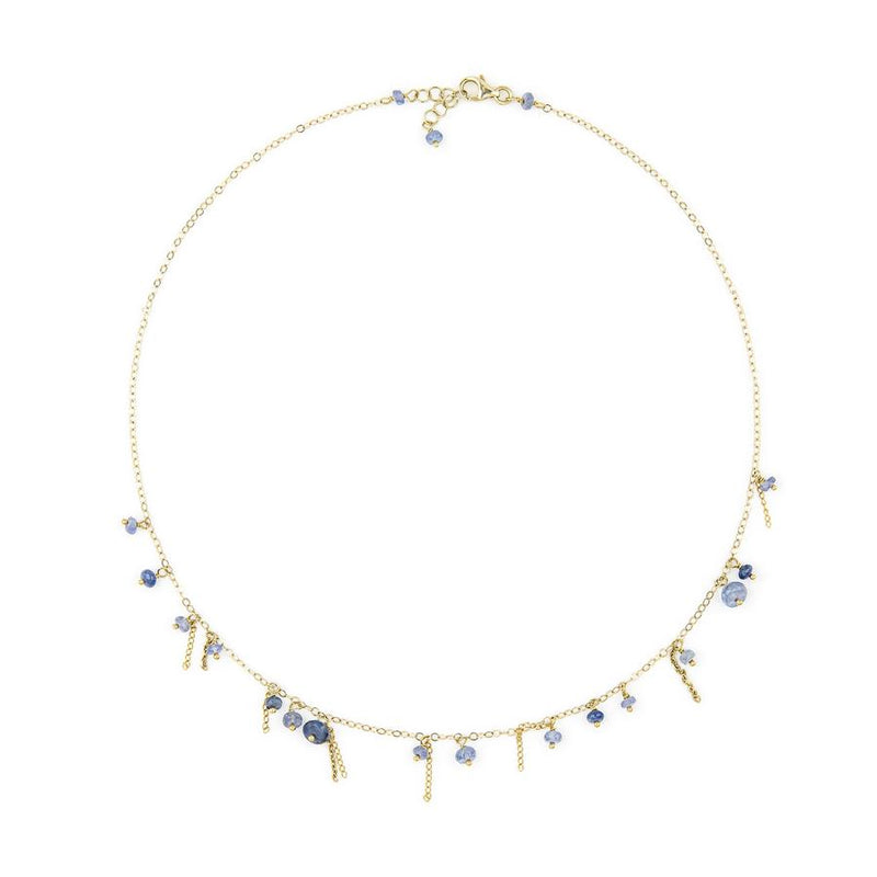 Ethereal Blue Tanzanite Choker Necklace