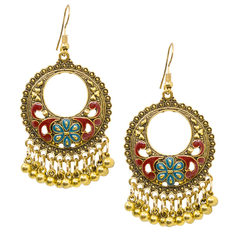 Pre-Columbian Inspired Chandelier Earrings