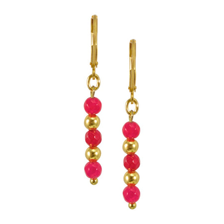 Dove Earrings in .925 Silver + Ruby - By Ana Moura