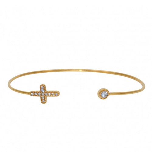 Cross Cubic Zirconia Bangle