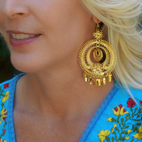 Mexican Filigree Earrings from Oaxaca