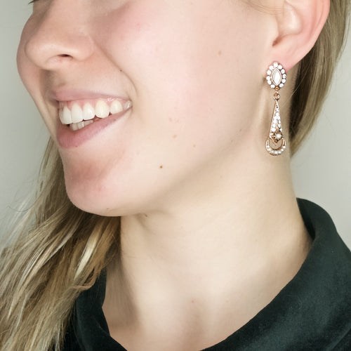 Crystal Drop Post Earrings by AMARO