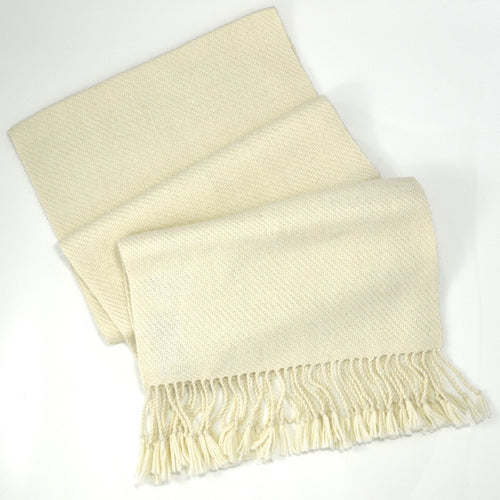 Handwoven Alpaca Scarf - Natural