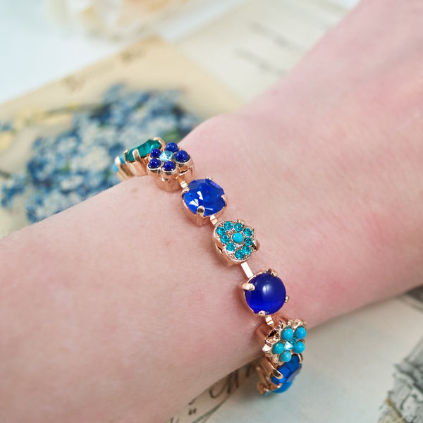 Turquoise and Crystal Ocean Bracelet by AMARO
