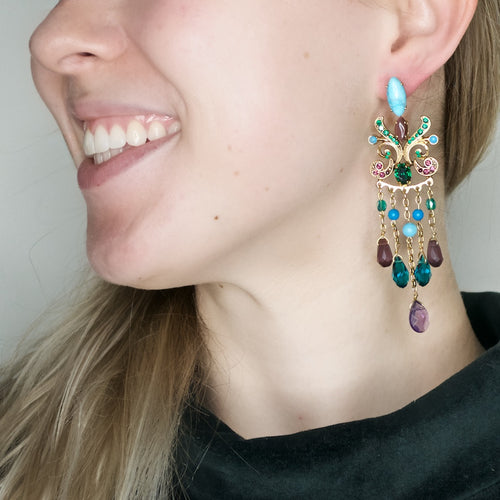 Stunning Goddess Kali Chandelier Earrings by AMARO