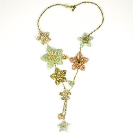 Bee and Flower Pendant Necklace by Eric et Lydie