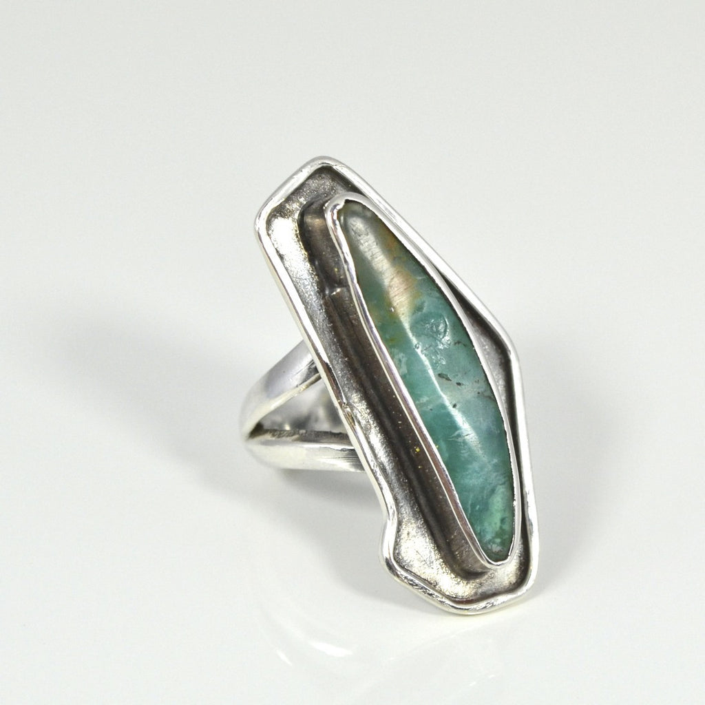 sterling silver andean opal ring jj caprices