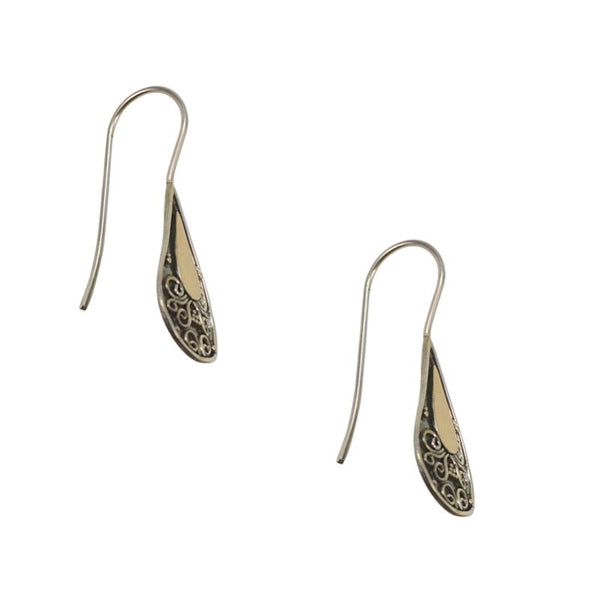 Balinese Filigree Silver and 18K Gold Earrings