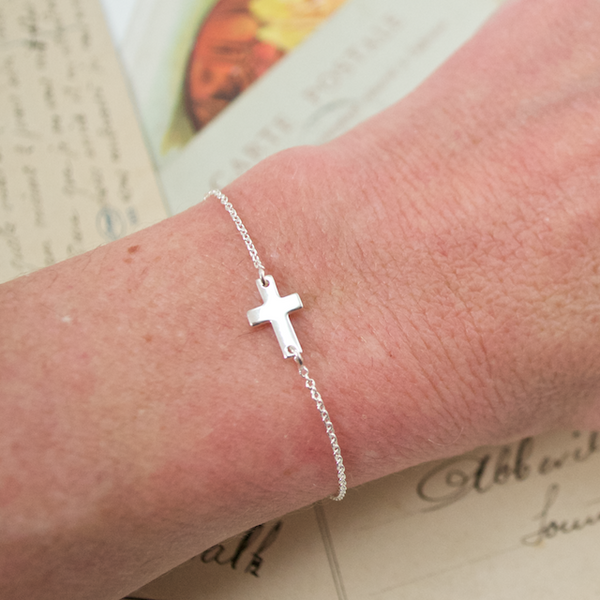 Sterling Silver Cross Bracelet