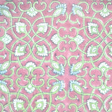 Hand Block Printed Scarf by Anokhi - Rose Art Deco