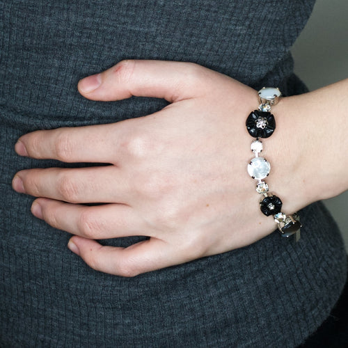 Elegant Onyx and Crystal Bracelet by AMARO