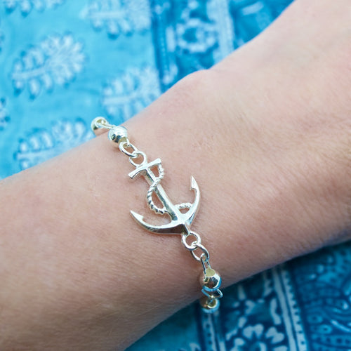Sailor Anchor .925 Silver Bracelet from Taxco, Mexico