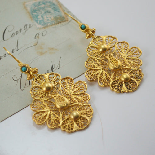 Ottoman Inspired Earrings by Hüseyin Sağtan