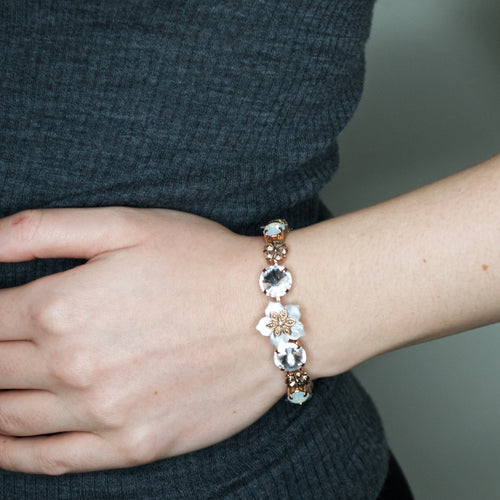 Swarovski Crystal and Mother of Pearl Bracelet by AMARO