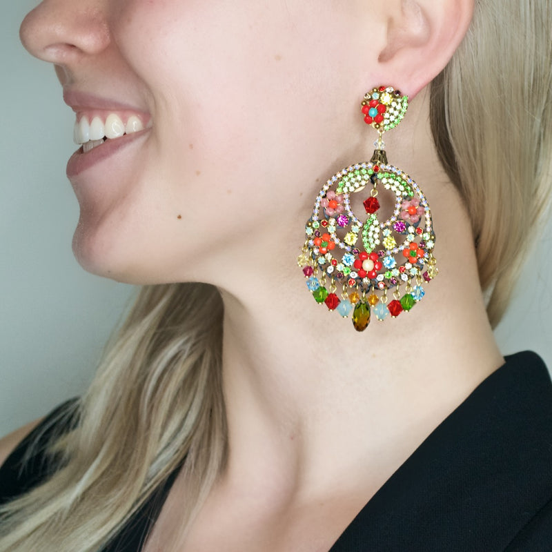 Stunning Colorful Drop Earrings by DUBLOS