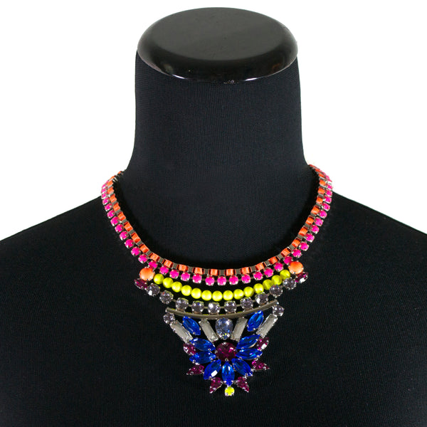 Pizzazz Flower Necklace by LK Designs