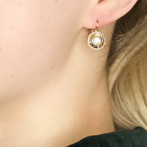 Chic Drop Bead Earrings by Satellite Paris