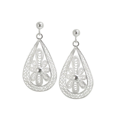 Sterling Silver Filigree Earrings