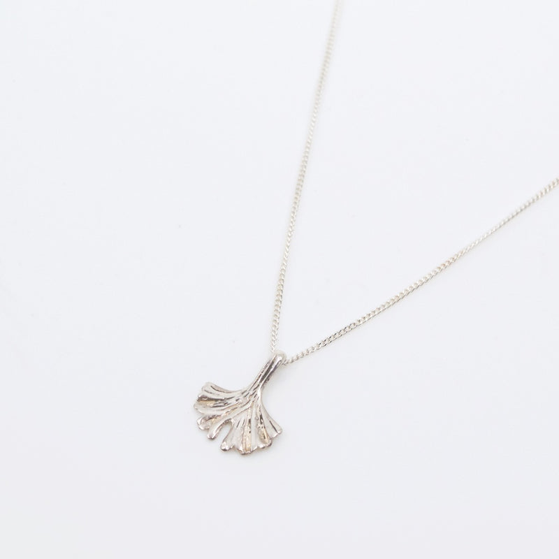 Ginkgo Leaf Sterling Silver Chain Necklace by CLO&LOU