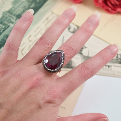 Semi-Precious Ruby Adjustable Ring