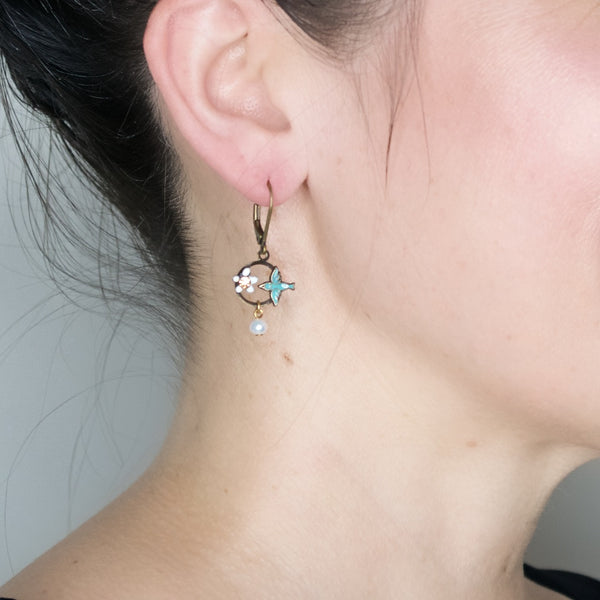 Sparrow Drop Earrings by Eric et Lydie