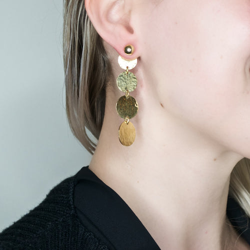 Angaza 2 in 1 Brass Drop Earrings