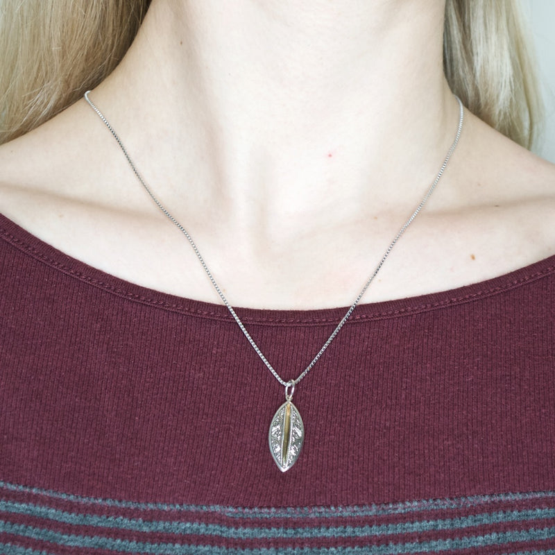 Balinese Sterling Silver and 18K Gold Pendant **Chain Sold Separate**