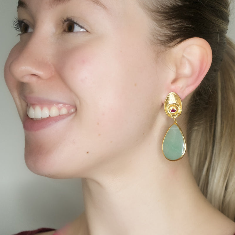 Unique Amazonite Drop Earrings