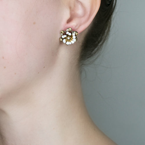 Sparkle Flower Post Earrings by Eric et Lydie