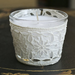 Vintage French Lace Votive by Jeanne Notari