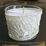 Vintage French Lace Votive, Gift for Wife