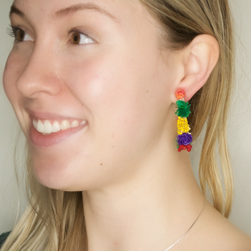 Colorful Colombian Hoop Earrings