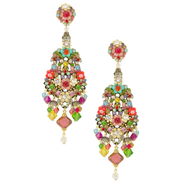 Multi-Color Statement Drop Earrings by DUBLOS