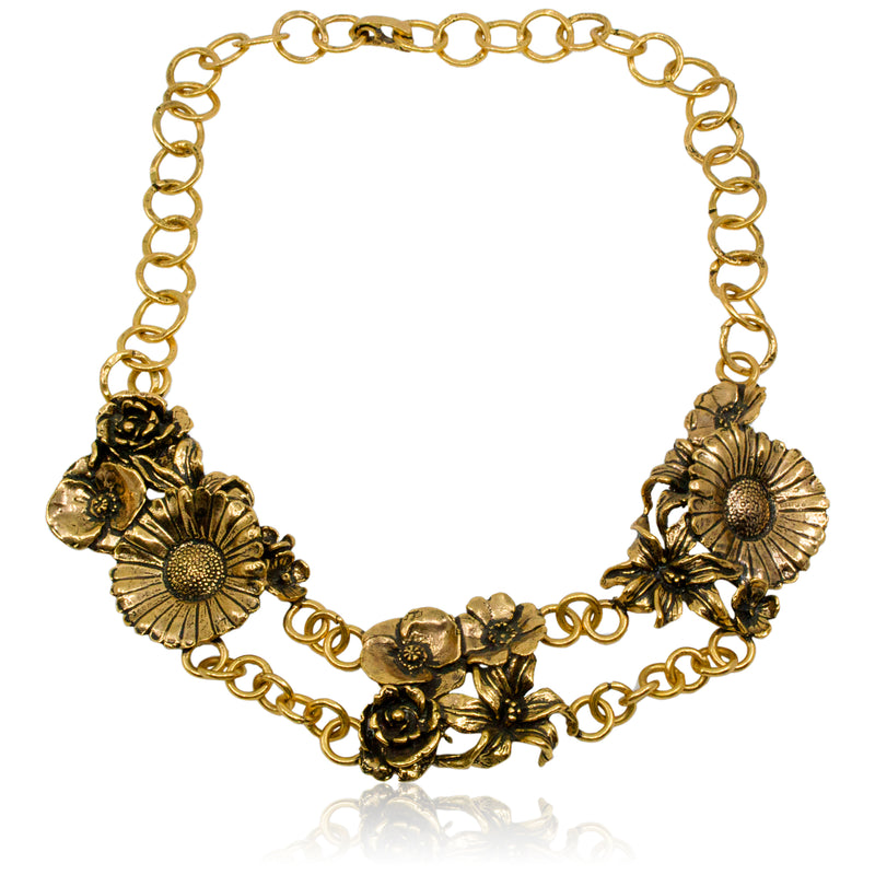 Daisy Chain Statement Necklace